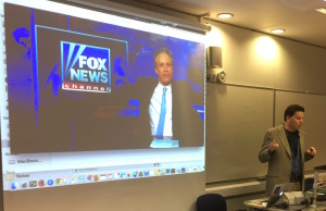 Adam Chodikoff, a senior producer at The Daily Show with Jon Stewart, addresses the conference. (Photo Chods approved.)