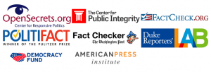 The Political TV Ad Archive has partnered with fact-checkers and many other journalism and public interest groups, including the Reporters' Lab.