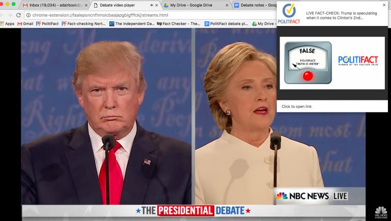 Live Fact-Checking during Third Debate
