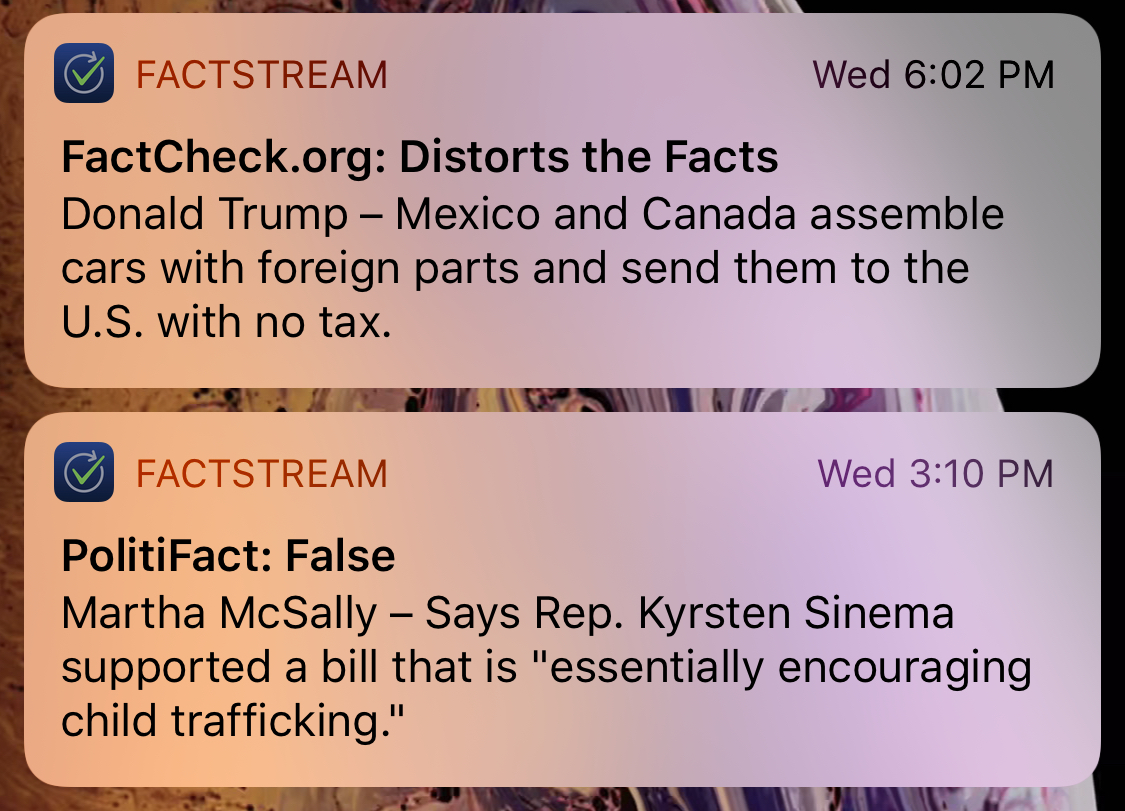 The New Version Of FactStream Lets Users Get Notifications Latest Fact Checks